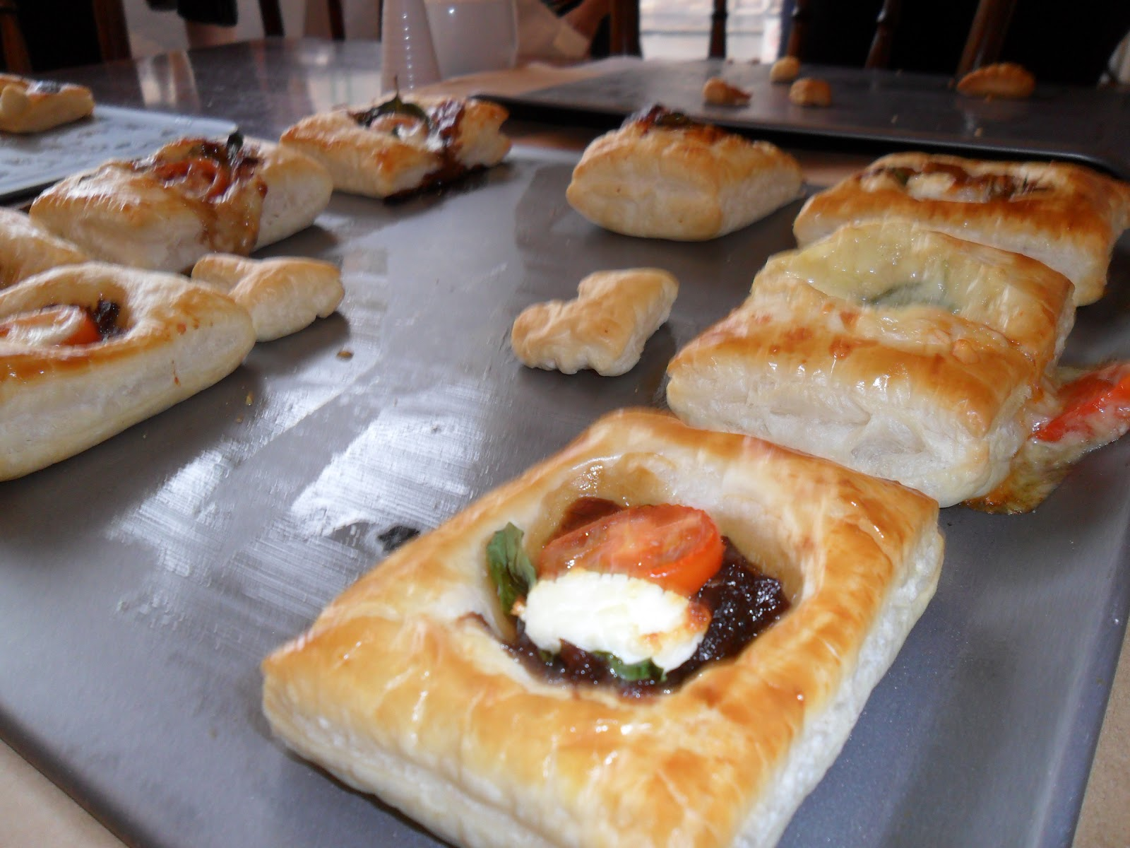 Terri morris scrapbooker canapes at the ready for Puff pastry canape