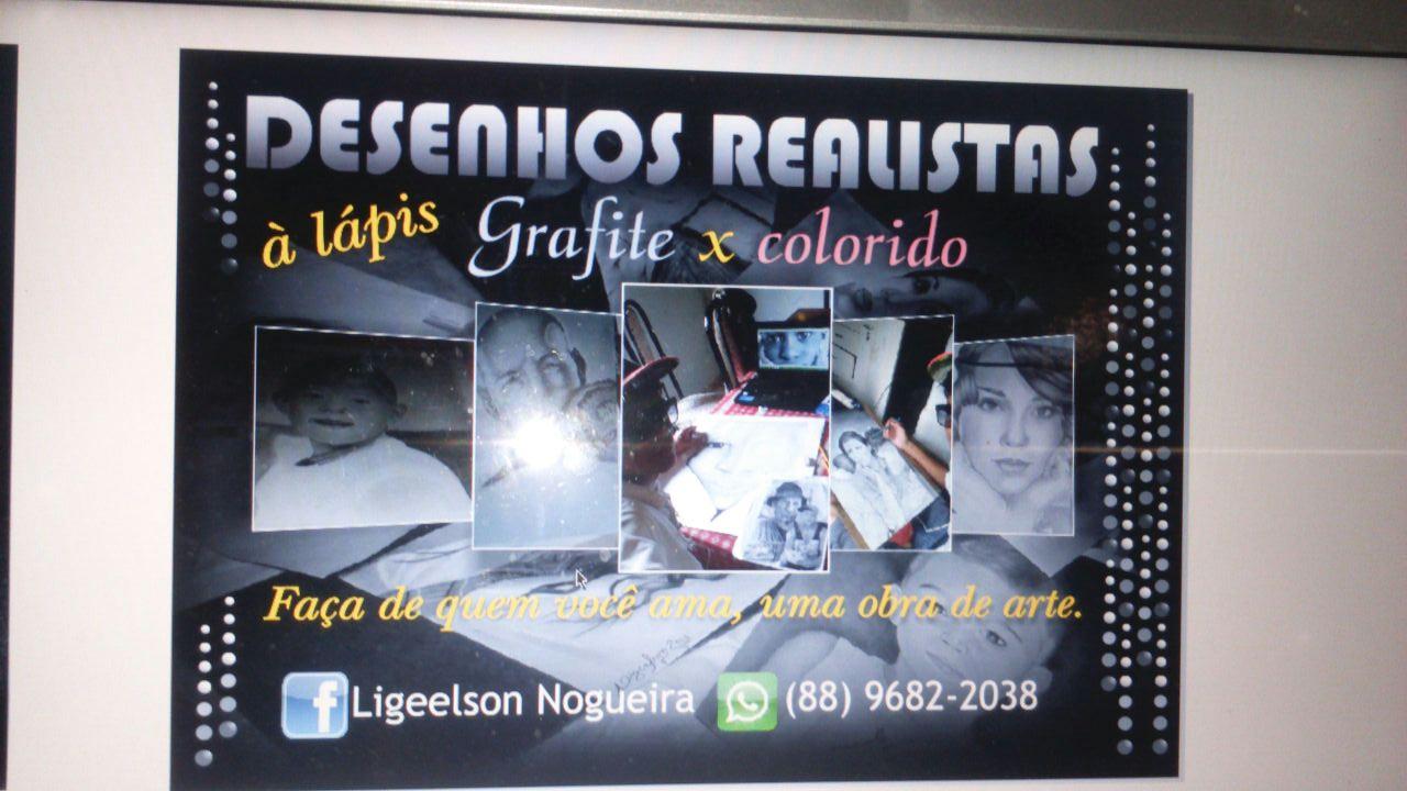 Desenhos Realistas à lápis, grafite x colorido - 88 99682-2038