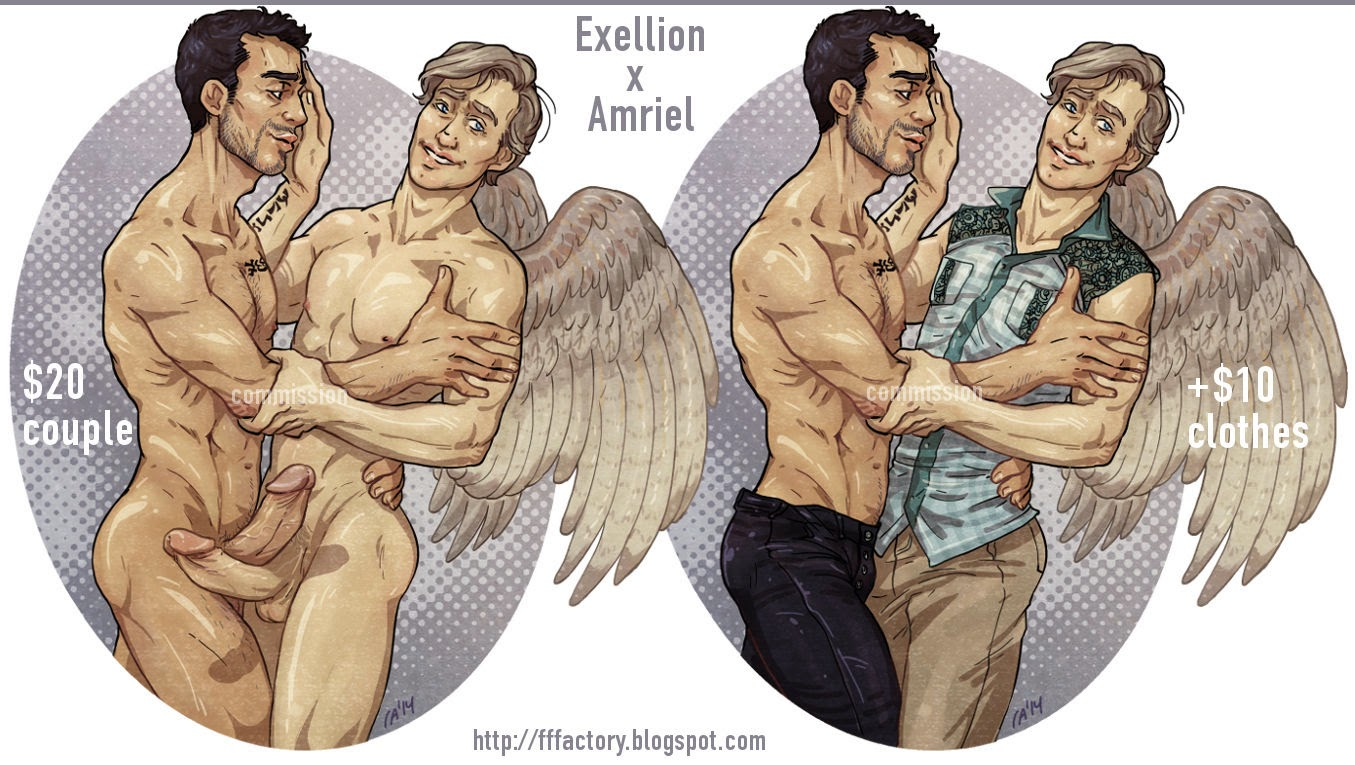 demon angel gay porn drawing pinup fat cut dicks frot