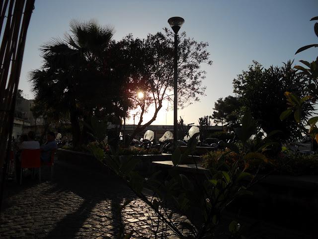 Naples  Island Italy sunset