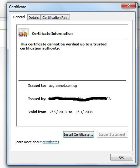 Sharepoints Solutions: This certificate cannot be verified up to a ...