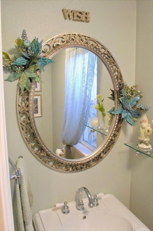 Diy decoration for your mirror frames 101 diy and crafts Frames for bathroom wall mirrors
