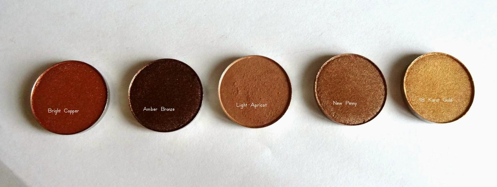 coastal scents hot pots haul Bright Copper, Amber Bronze,Light Apricot,New Penny,18 Karat Gold