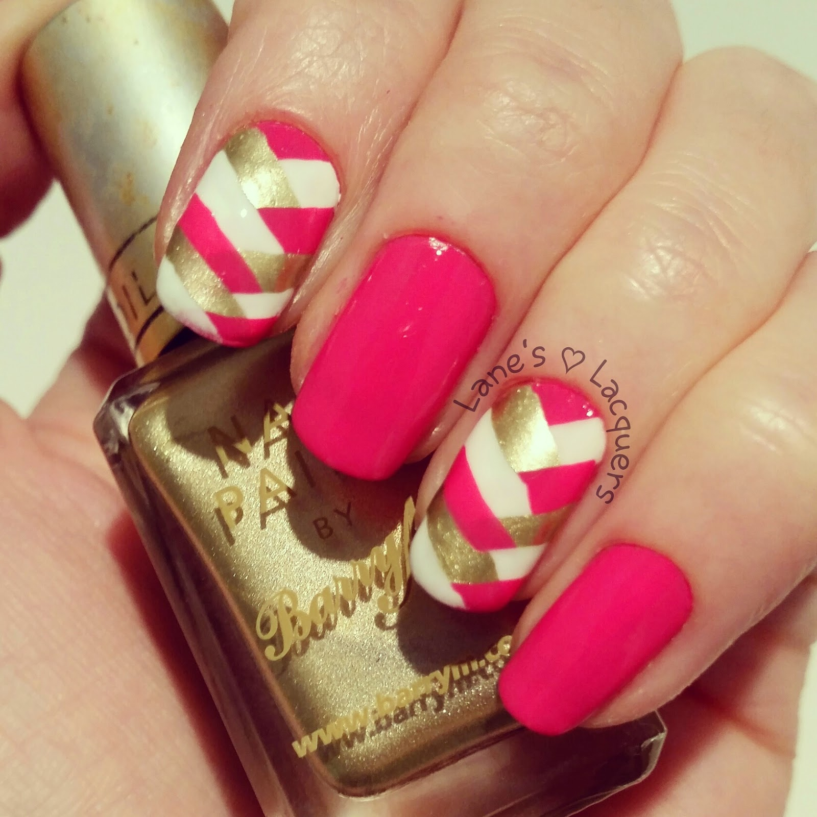 barry-m-pink-white-gold-fishtail-braid-nail-art (2)