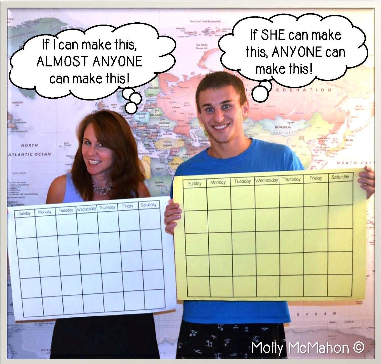 how to create a calendar using html