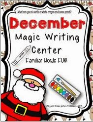 http://www.teacherspayteachers.com/Product/December-Magic-Writing-Center-Activity-923381
