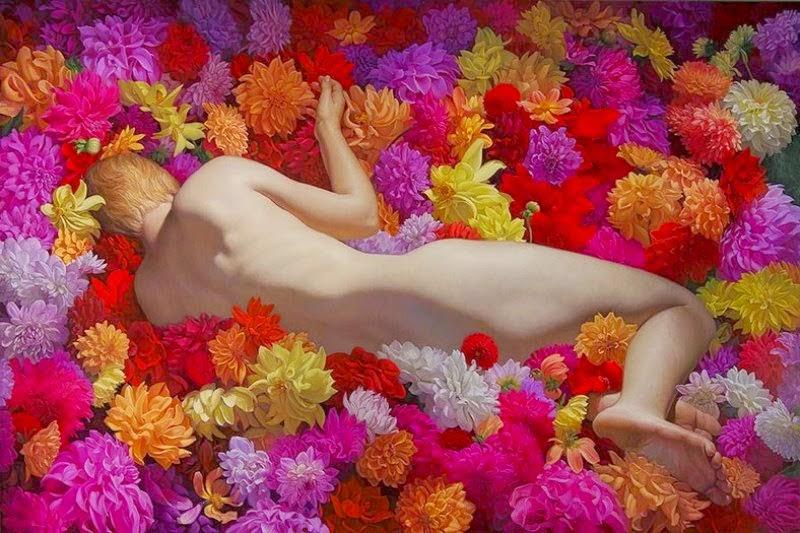 oleos-femeninos-con-flores