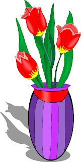 Red Tulips Flowers Clipart