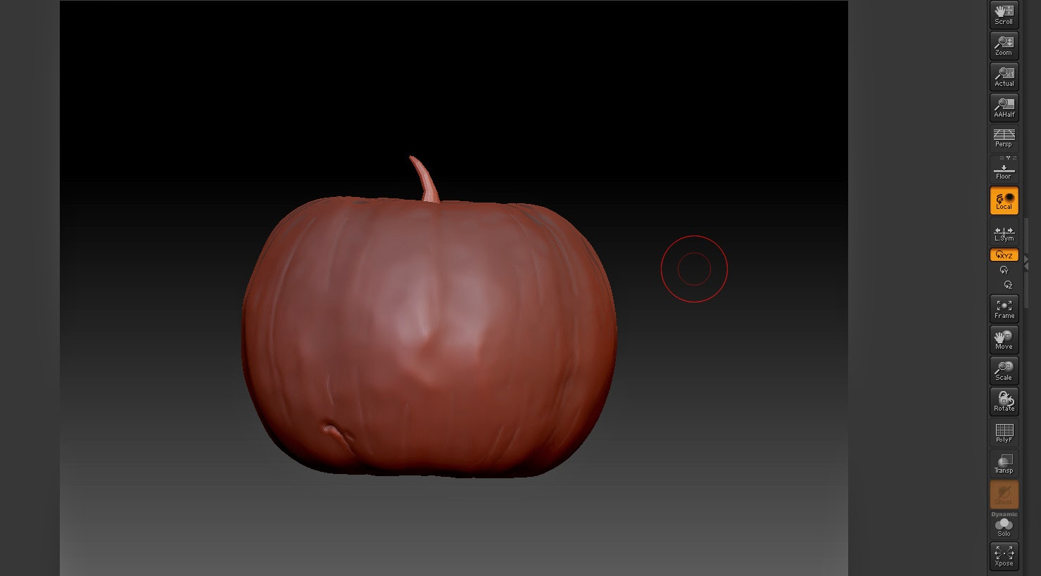 Pumpkin in Zbrush