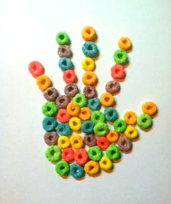 Kellogg's Froot Loops Cereal Hand  Makes a Sweet Hand