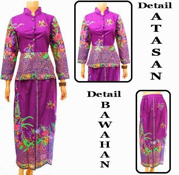 Baju Batik Dress Muslim Setelan rok