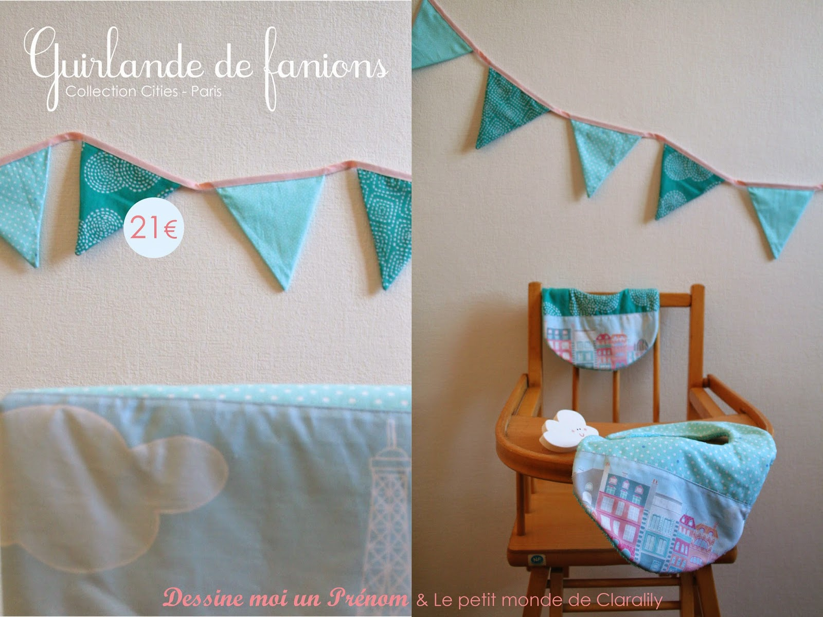 http://www.alittlemarket.com/decoration-pour-enfants/fr_guirlande_fanions_turquoise_collection_cities_paris_-12066975.html