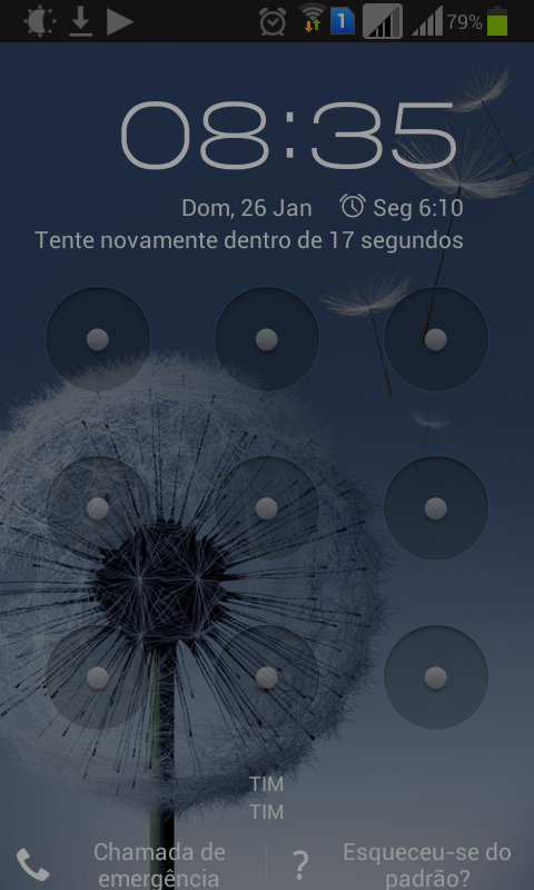 Desbloqueio do celular via conta do google