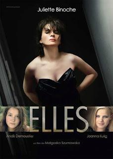 """Cartaz de Juliette Binoche no filme """"Elles"""""""