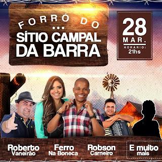FORROZÃO DO CAMPAL DA BARRA DIA 28 DE MARÇO. ESSA FESTA TODO MUNDO VAI