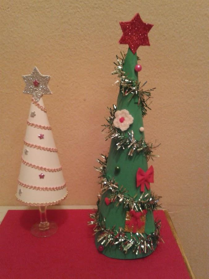 Hacer arboles o pino de goma espuma - Hacer arbol navidad ...