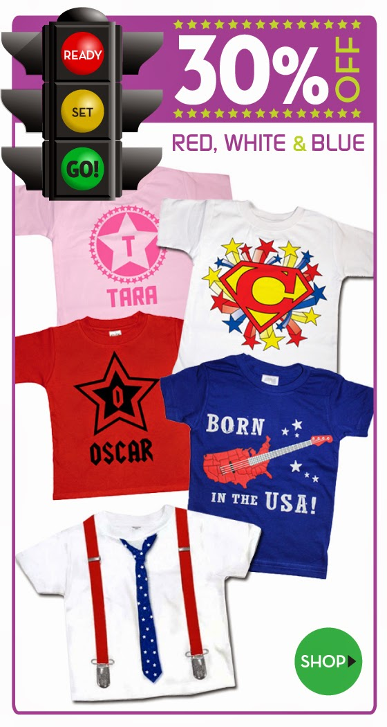 Ready Set Go Sale on Stars and Stripes Clothing for Babies and Kids