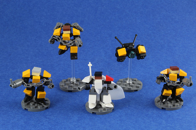 Since The First One Was So Well Received, Here Are More Micro Mechs.