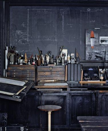 Studio with Chalkboard