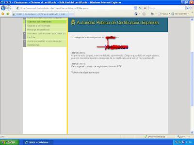 Generación de un certificado de FNMT CLASE 2 CA para una persona física con DNIe