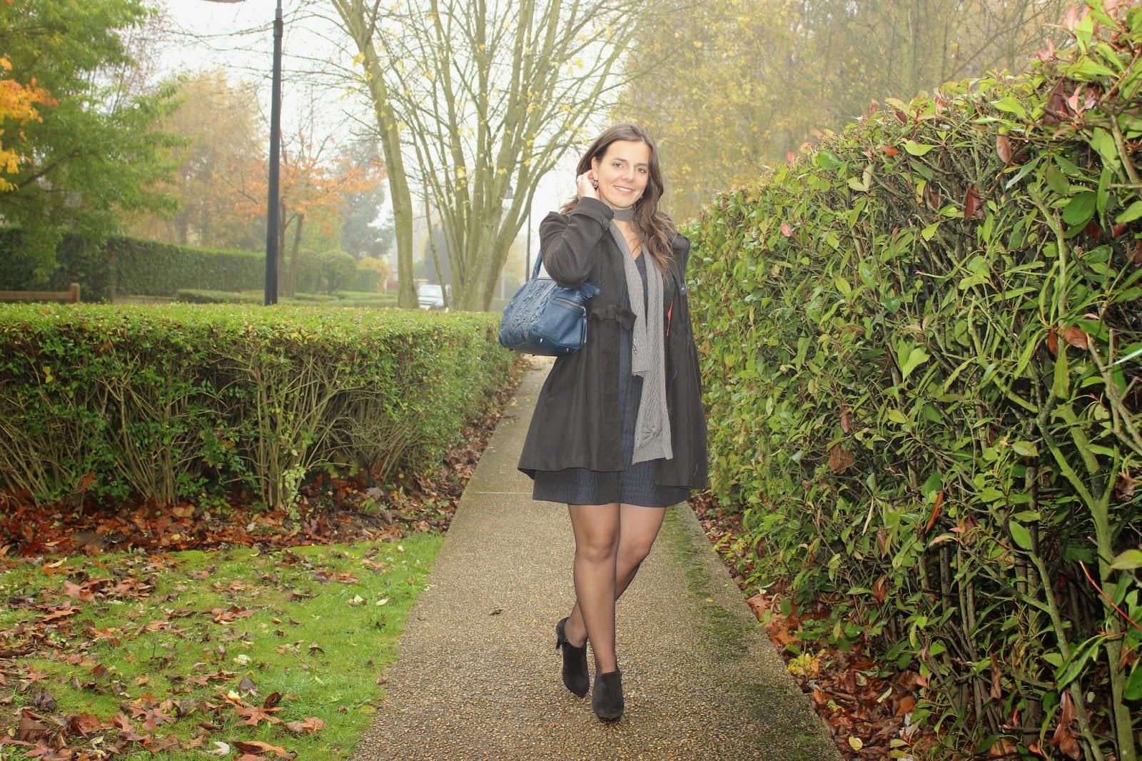 robe matelassée Naf Naf, low boots naf naf