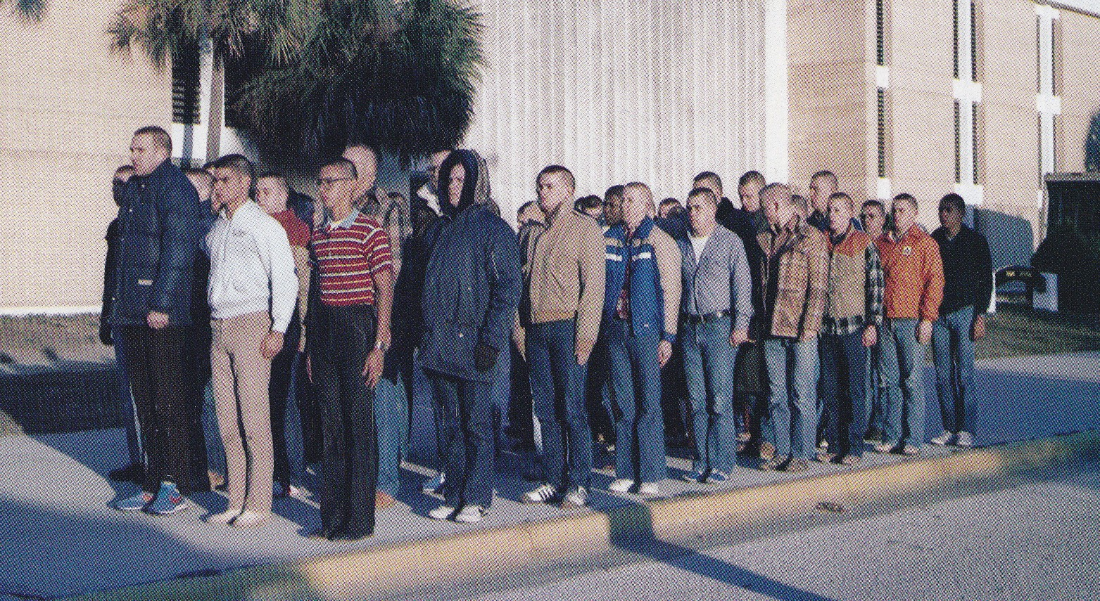 Tommy Mondello first formation in boot camp Orlando, Florida 1981