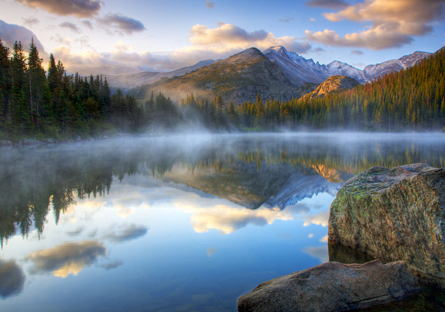 Bear Lake Fog at Sunrise natural photography