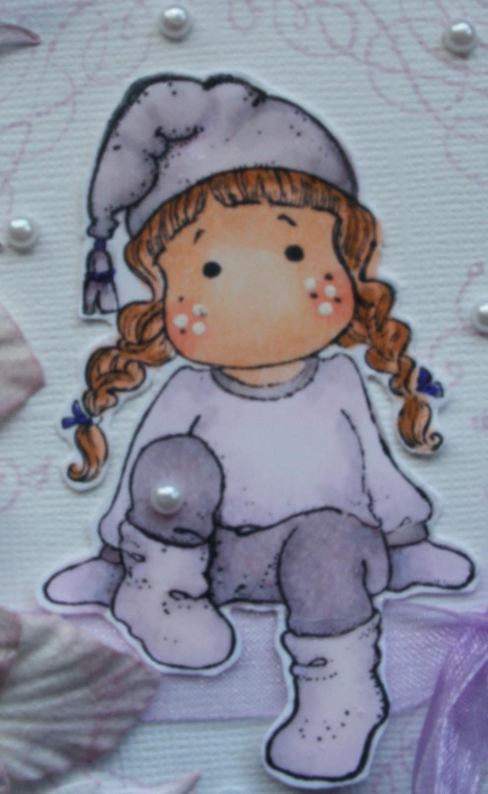 hilde s cards een winterkaartje in lila
