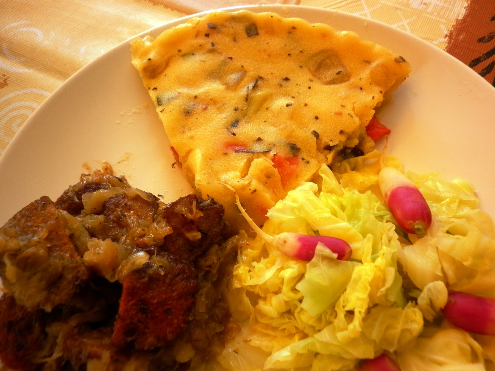 Cocina macrobi tica tortilla sin huevo de polenta for Cocina macrobiotica
