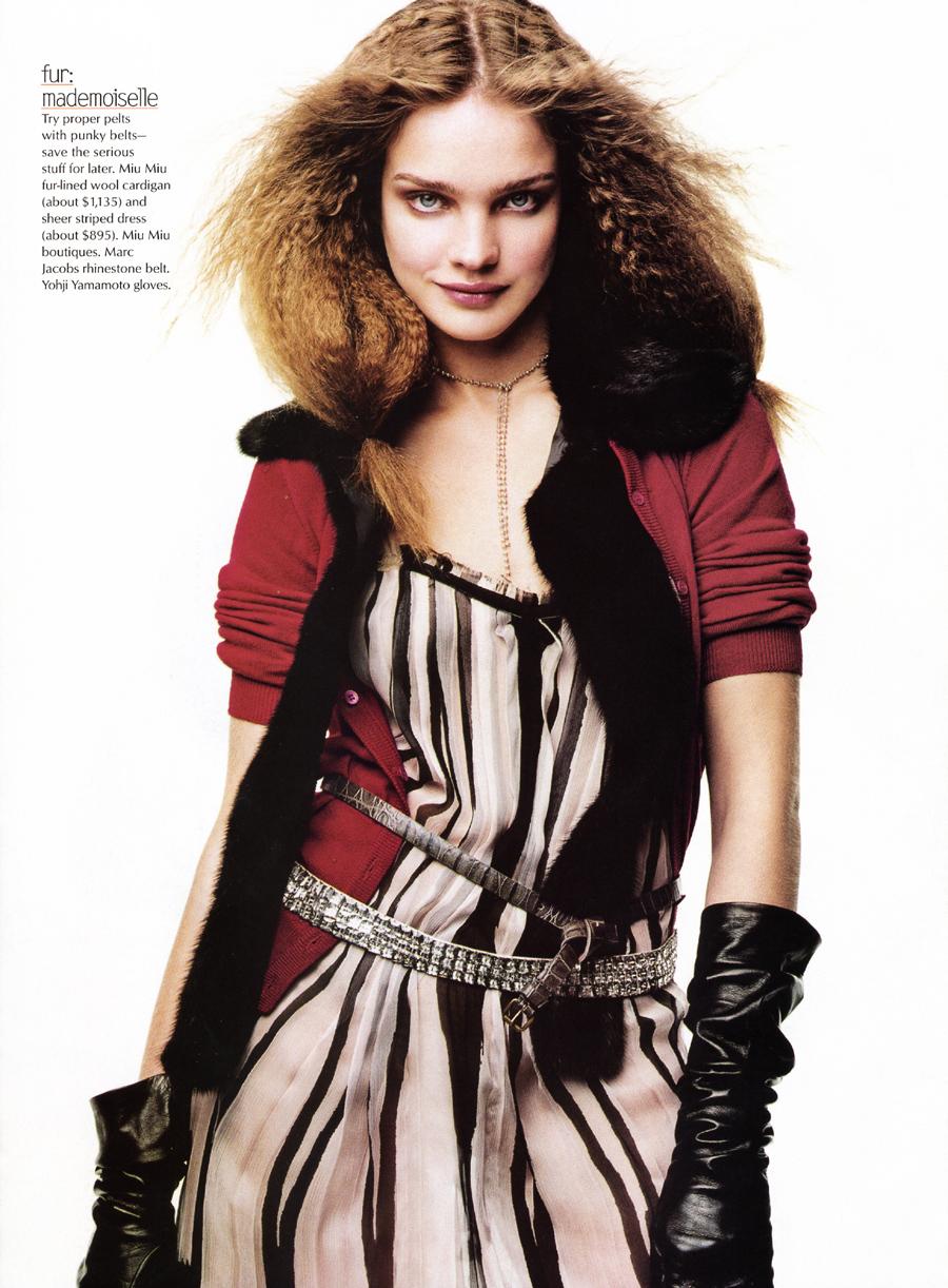Natalia Vodianova in Best friends |  Vogue US September 2003 (photography: Craig McDean)