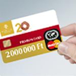 2 000 000 Ft bankkártya