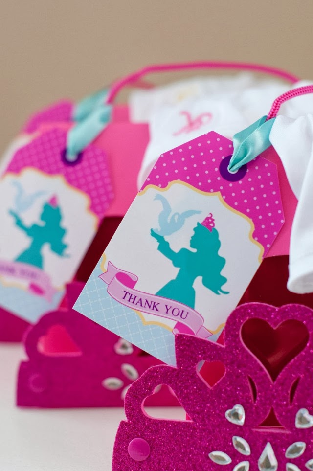 THE SWAN PRINCESS printable favor tags