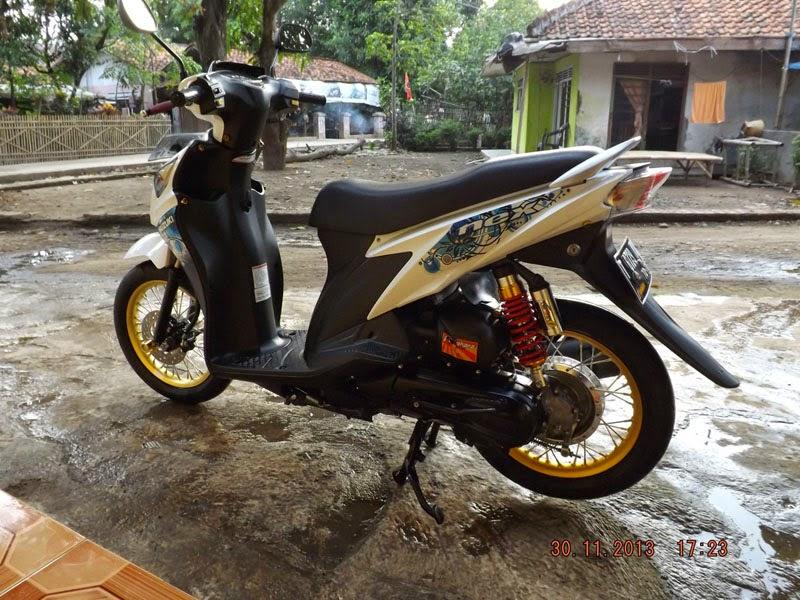 Modifikasi Motor Suzuki Nex Velg Jari Jari