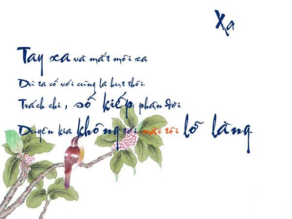 Chữ thư pháp về tình yêu hay & buồn | Hình ảnh đẹp