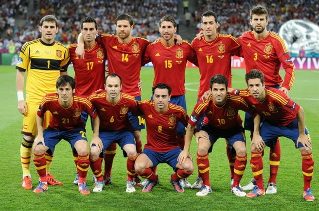Spain vs Netherlands World Cup 2014 Lineup