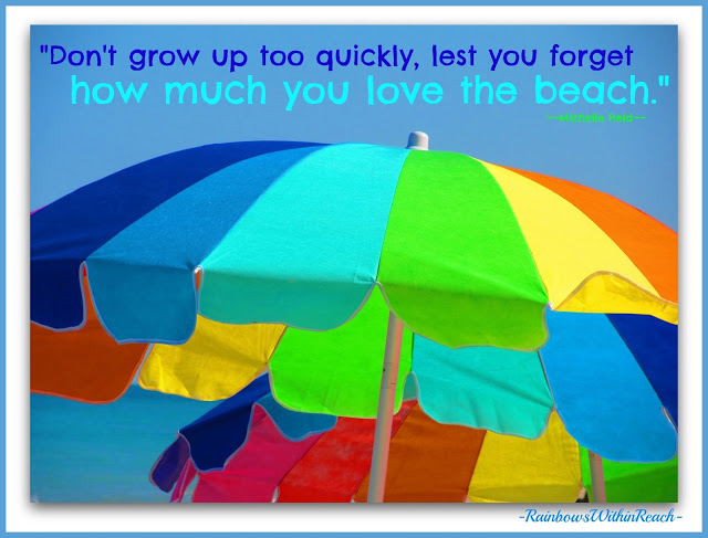 photo of: Beach Umbrellas Photograph and Quote