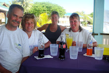 Jim, Deb, Cheryl, &amp; Karen at lunch after our final dive of the trip.