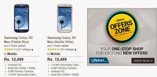 Buy Samsung S3 Neo at Cheapest best price  Rs.12500 on Flipkart