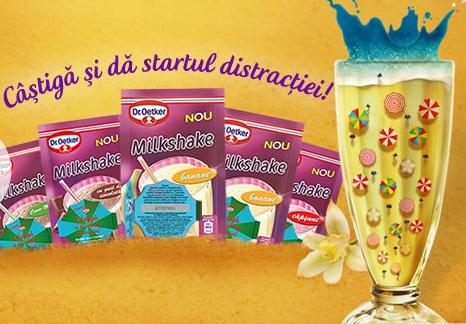 Inscrie codul pe www.oetker.ro Concurs 2014 Vara are gust de milkshake!