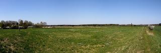 Panoramabild aus drei Fotos aus der Südwestecke der Keltenschanze Buchendorf