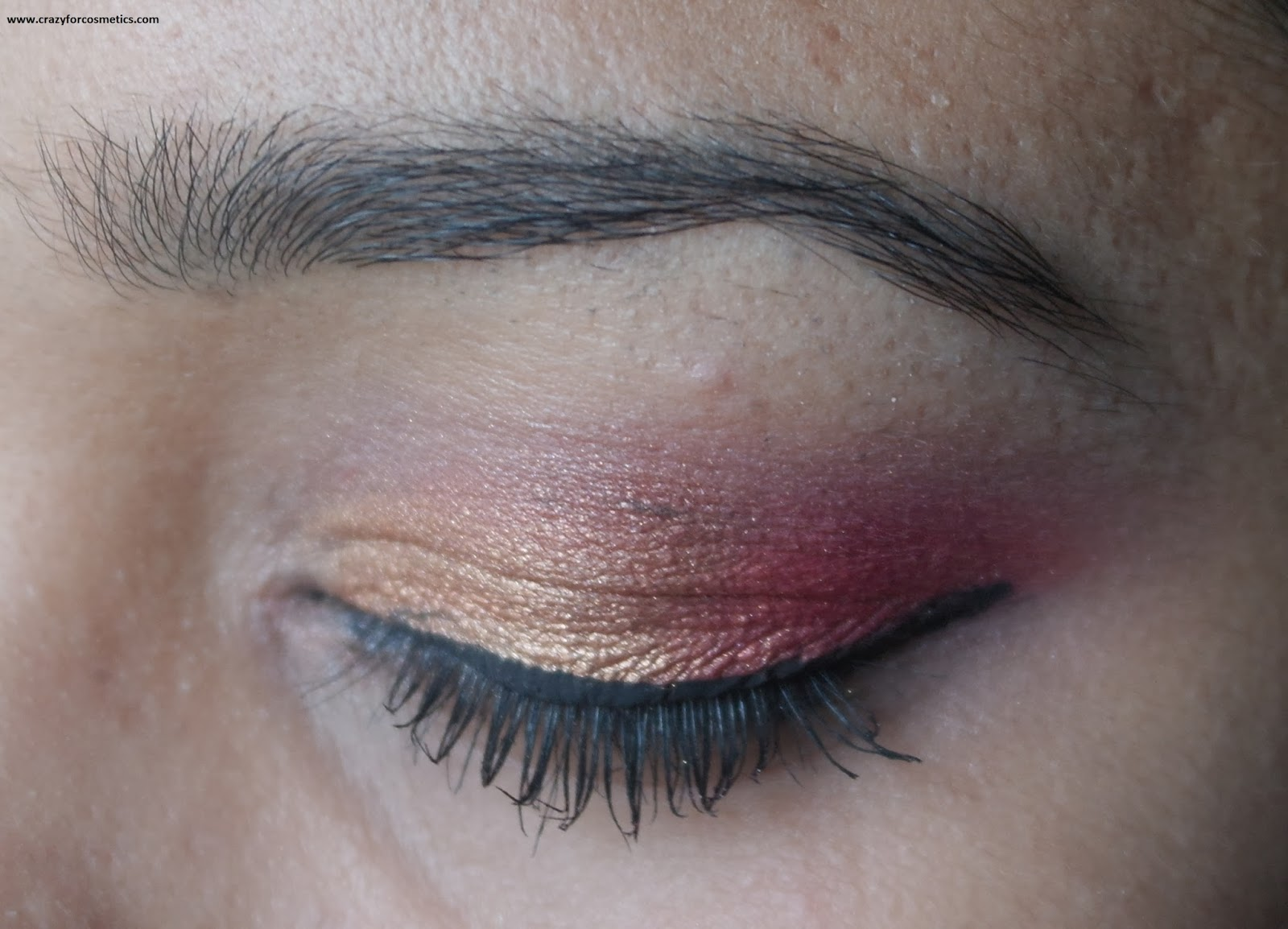 NYX Single Eyeshadow 109 Sunrise Review Swatch- EOTD- Eyemakeup