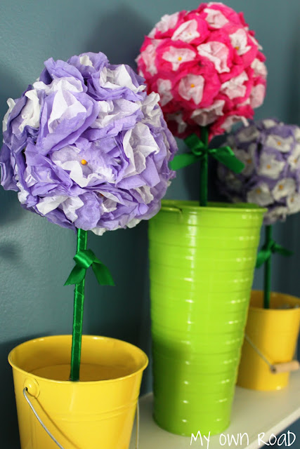 paper crafts: spring topiary tutorial