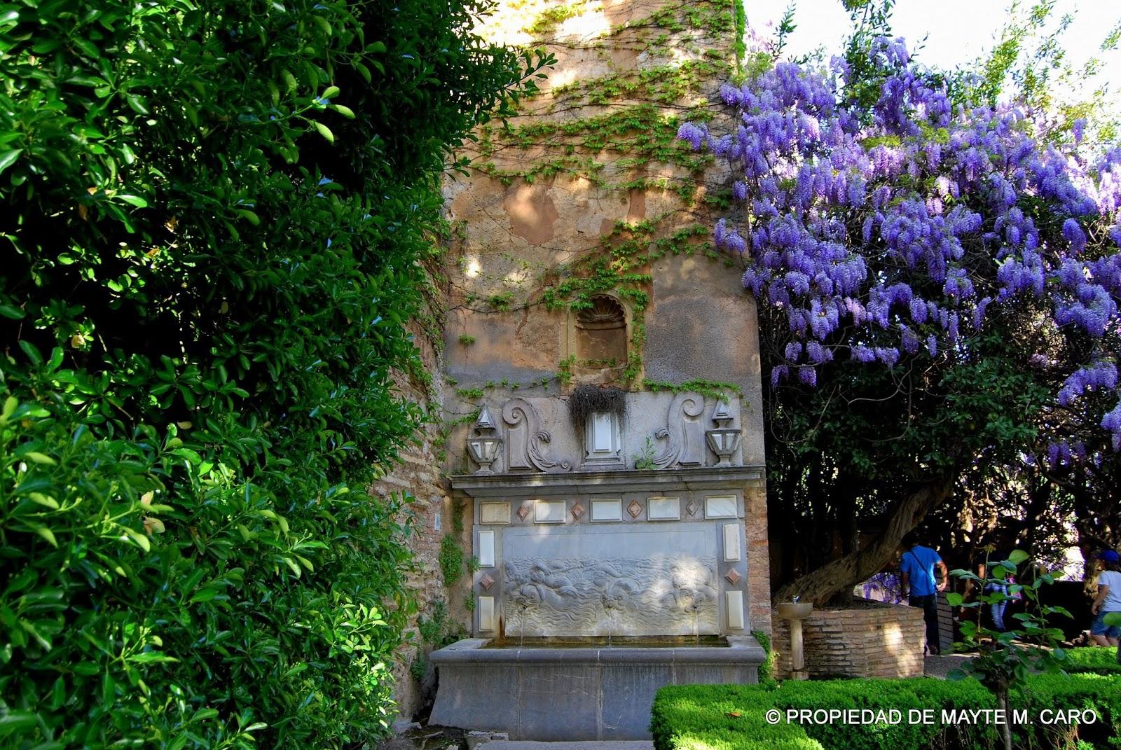 Fuentes de granada esta preciosa fuente fue construida en 1628 y realizada con piedra de sierra Villa jardin donde queda