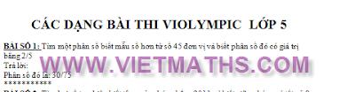 cac dang toan thi violympic lop 5