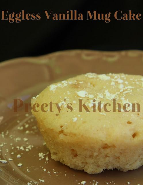 Preety S Kitchen Eggless Vanilla Mug Cake Single