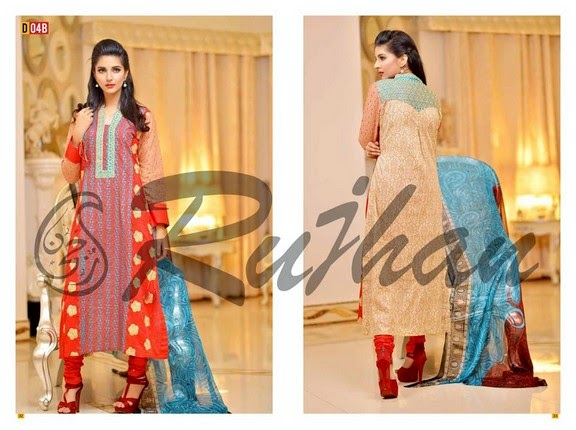 FestivanaEidCollectionByRujhanFabrics wwwfashionhuntworldblogspot 19  - Festivana Eid Collection 2014-2015 By Rujhan Fabrics