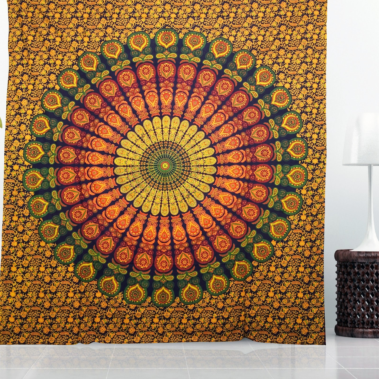 large wall tapestry mandala hippie bedding indian tapestries block print table cloth beach tapestry ceiling stylish wall decor bohemian - Large Wall Hangings