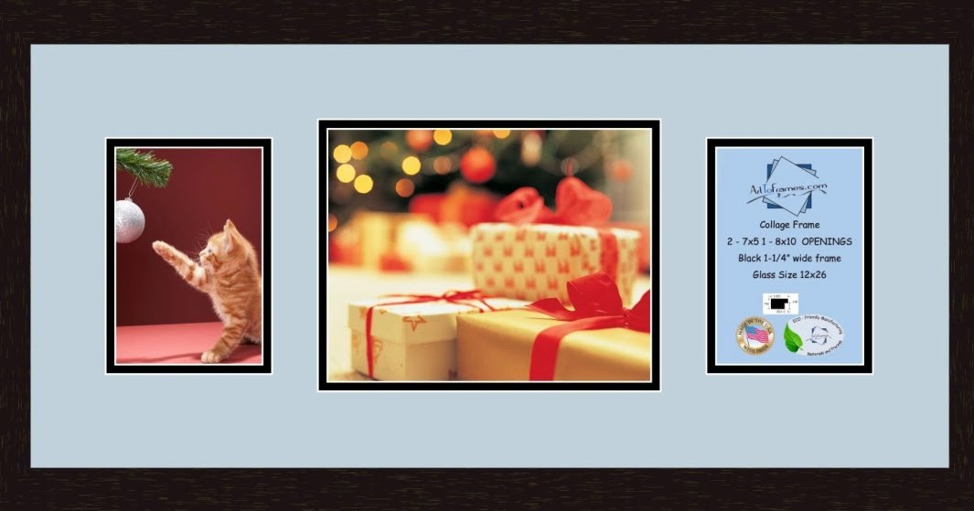 Collage Frame Photo Mat Double Mat With 2 4x6 And 1 10x8