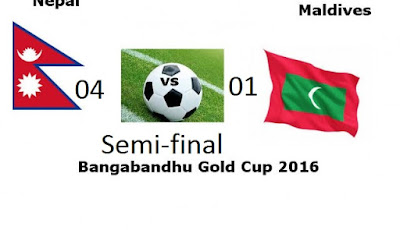 nepal entered final of bangabandhu gold cup defeating madives