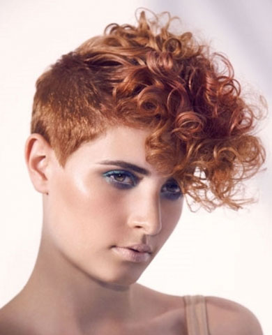 Curly Mohawk Hair Style 2014